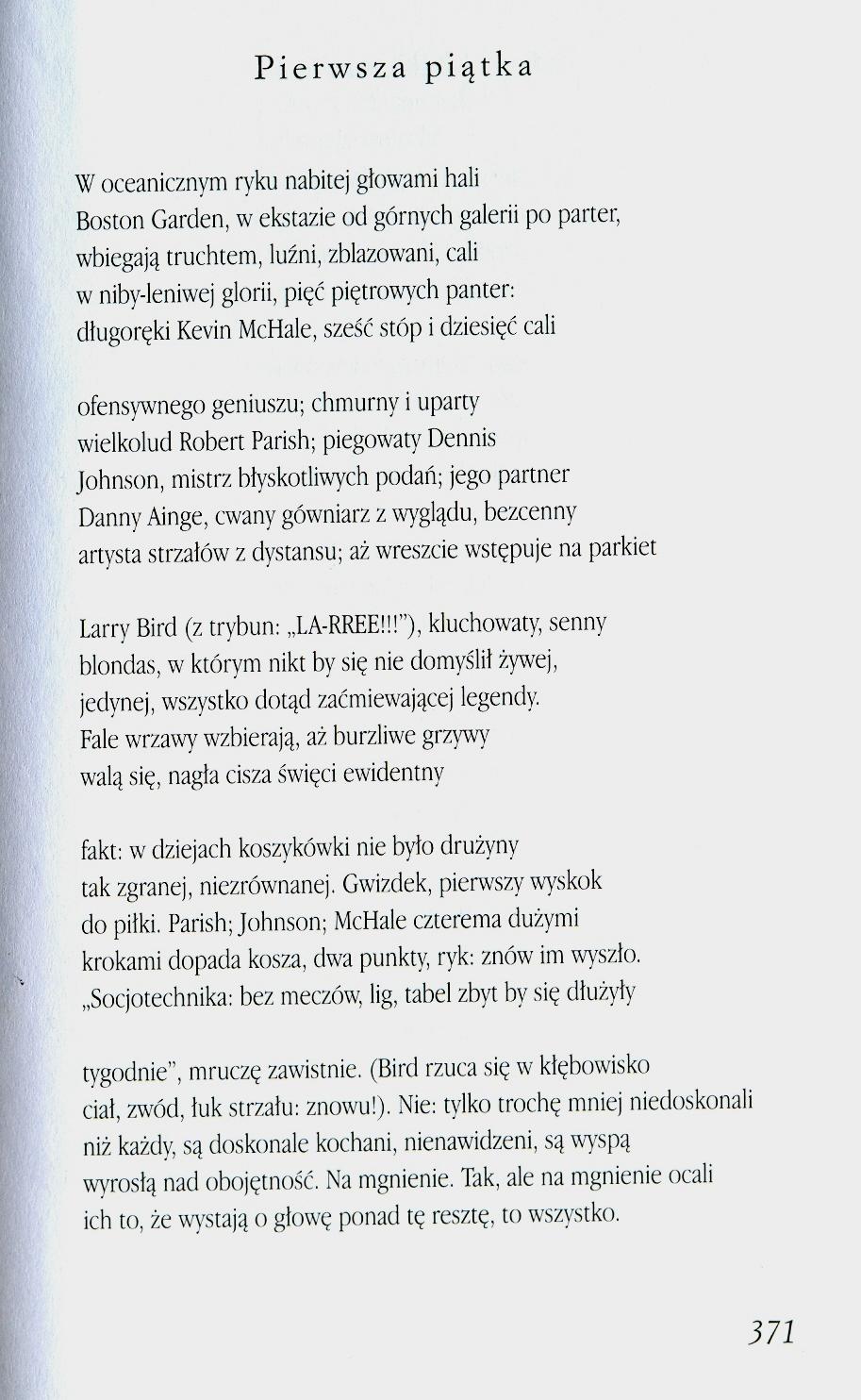 Pierwsza Piątka Stanisław Barańczak Karol Mówi